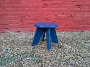Blue Aero Stool