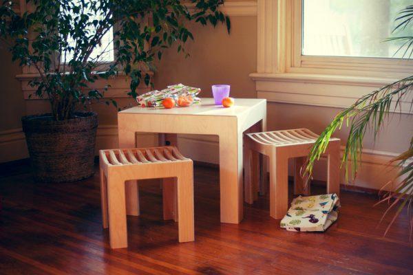 Sodura Cube Table and Stools